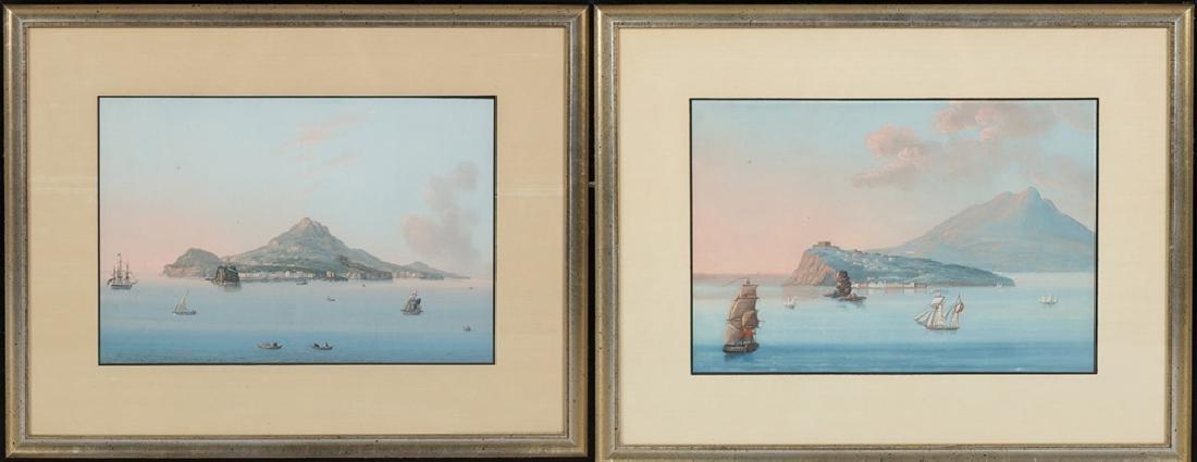 Two Italian Harbor Scene