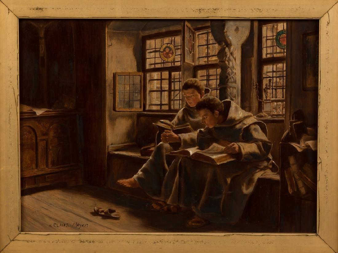 Claus Meyer (German, 1856-1919) Monks Reading - 2