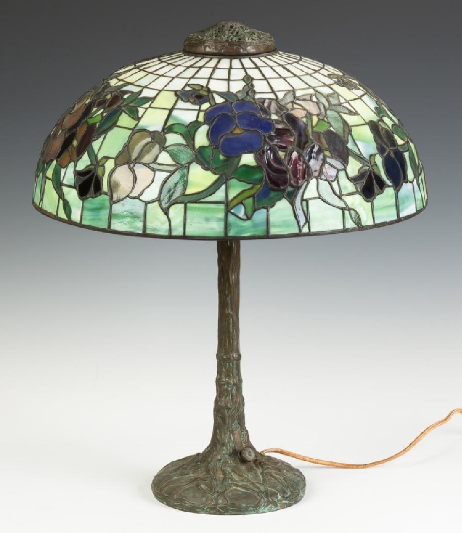 "Tiffany Style ""Pansy"" Lamp - 2"