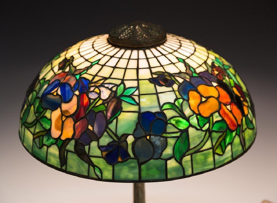 "Tiffany Style ""Pansy"" Lamp - 3"