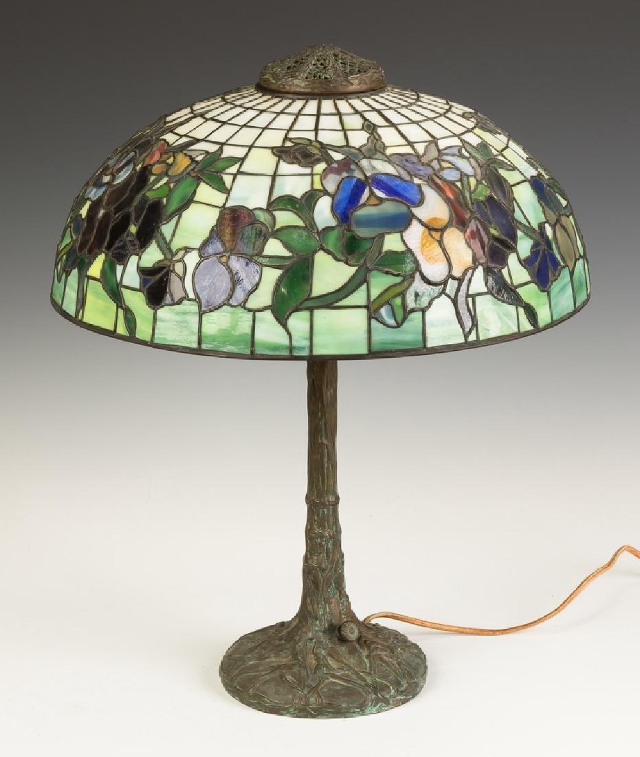 "Tiffany Style ""Pansy"" Lamp - 5"