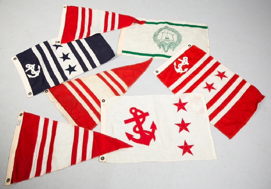 7 Vintage Sailing Flags