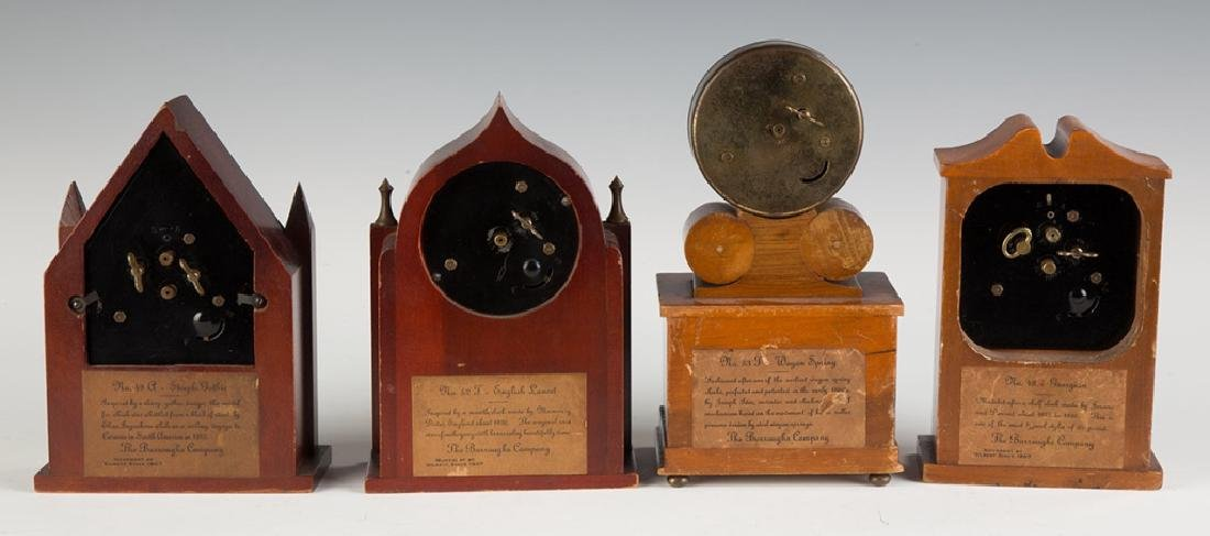 Four Vintage Miniature Shelf Clocks - 2