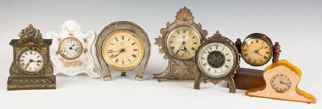 Various Vintage Shelf and Alarm Clocks