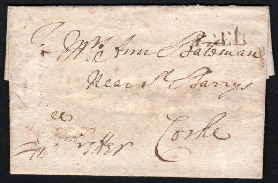 Postal History: Small EL to Corke with small FREE