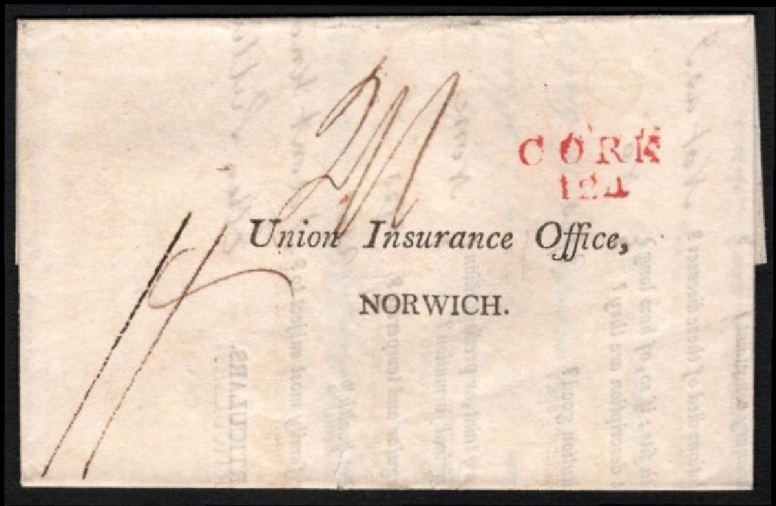 Postal History: EL to Norwich with CORK/124