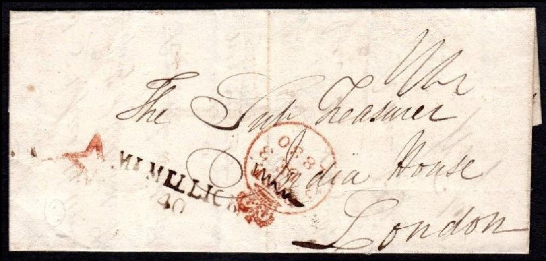 Postal History: EL to London with MT MELLICK / 40