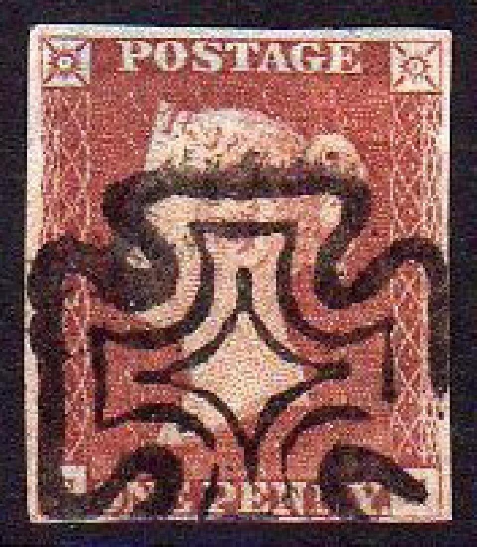 GB used in Ireland: 1d orange-brown with Maltese Cross