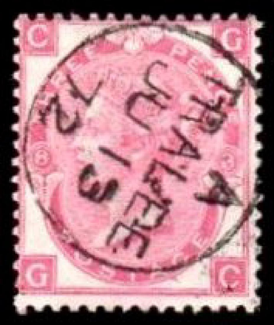 GB used in Ireland: 1870 3d deep rose