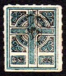 Sinn Fein: Celtic Cross in pale blue