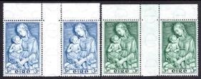 Commemorative: 1954 Marian Year set, marginal gutter
