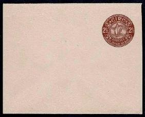Envelopes: 1945 2½d brown on deep greyish-buff