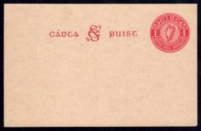 Postcard: 1927 1d on deep greyish buff