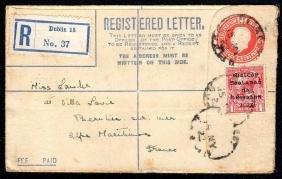 Registered Envelope: Transition, GB 5d orange format F
