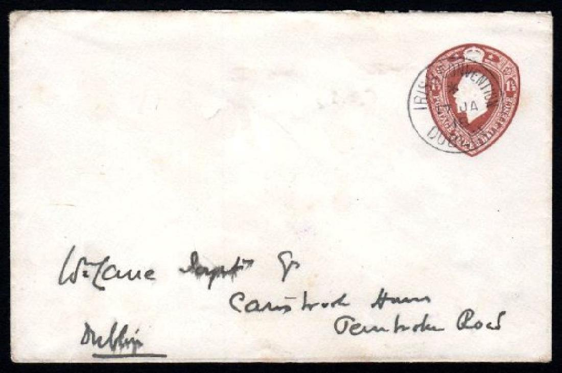 Stamped-to-Order: 1918 envelope 1½d brown