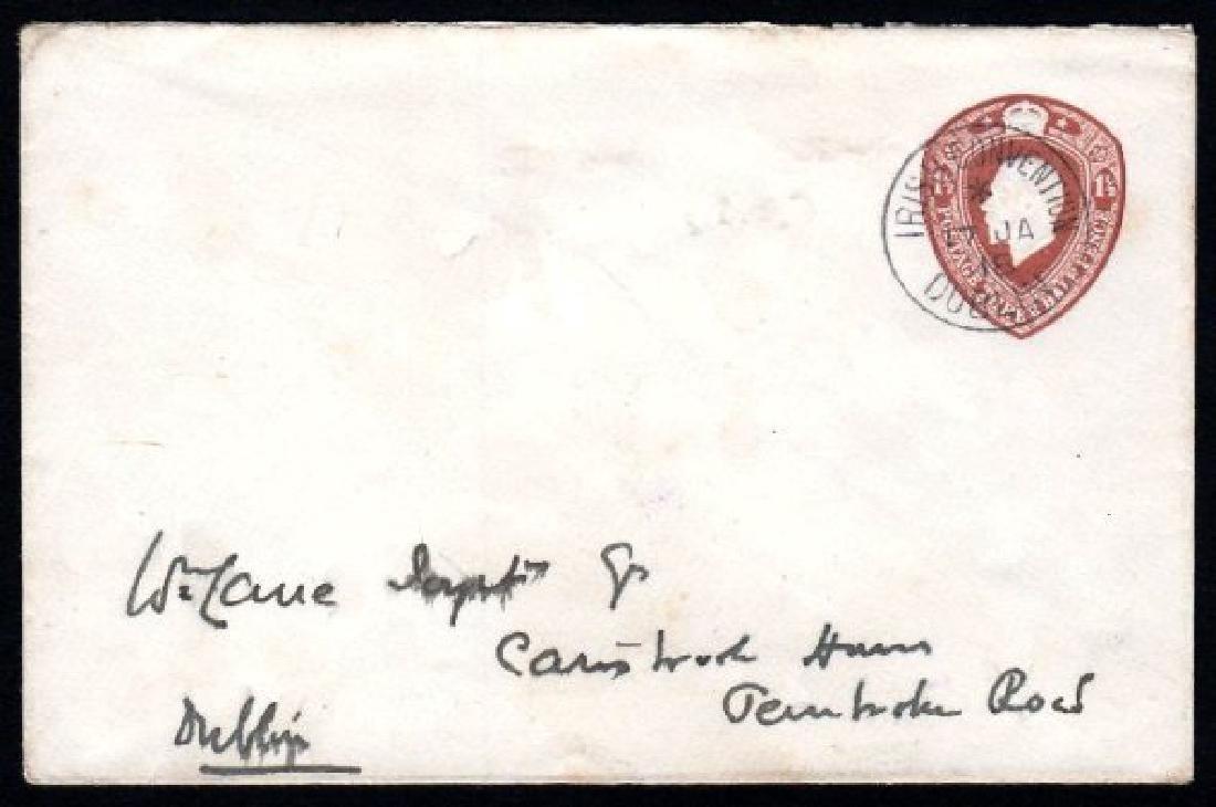 Stamped-to-Order: 1918 envelope 1½d brown