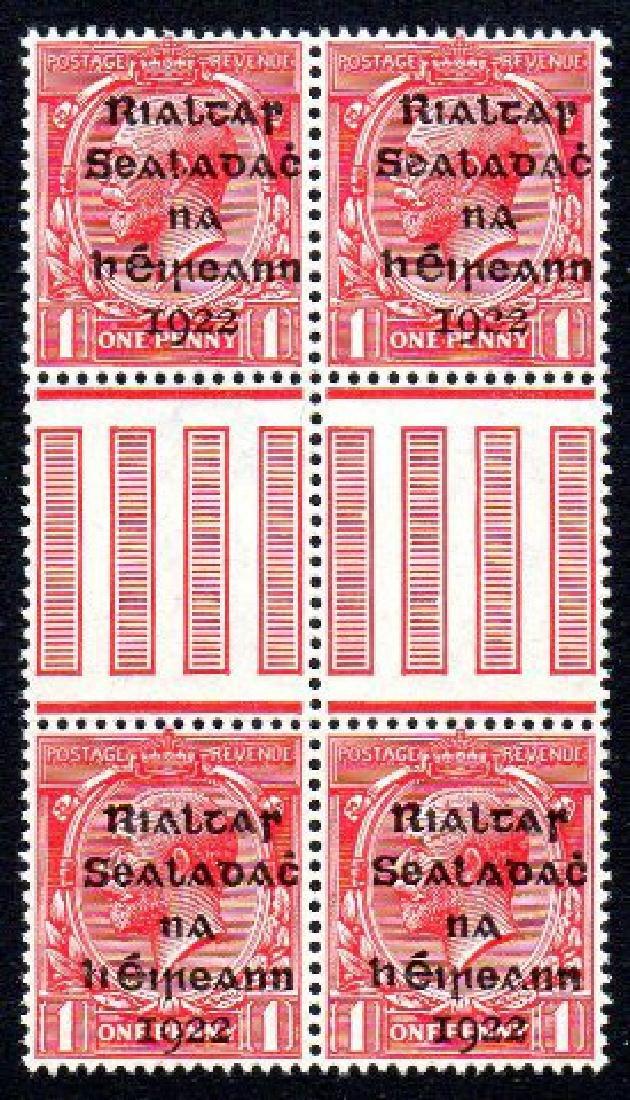 Dollard: 1d gutter block of 4