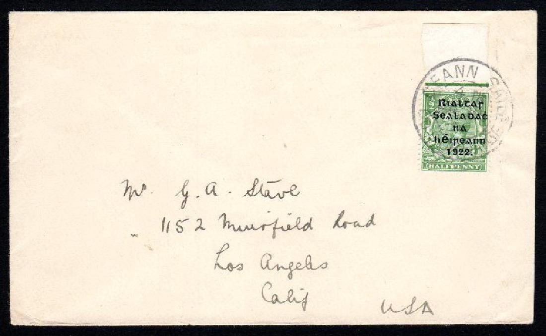 Thom Wide: ½d rare single on foreign cover