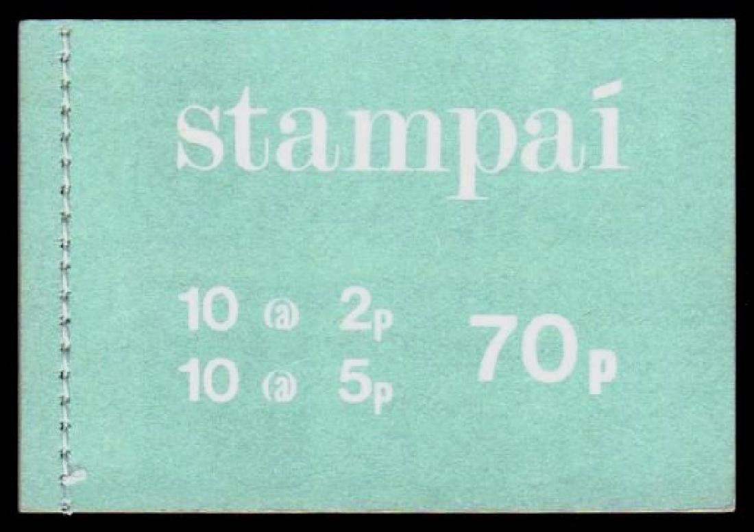 Booklet: 1975 Gerl 70p with pale bluish-green cover