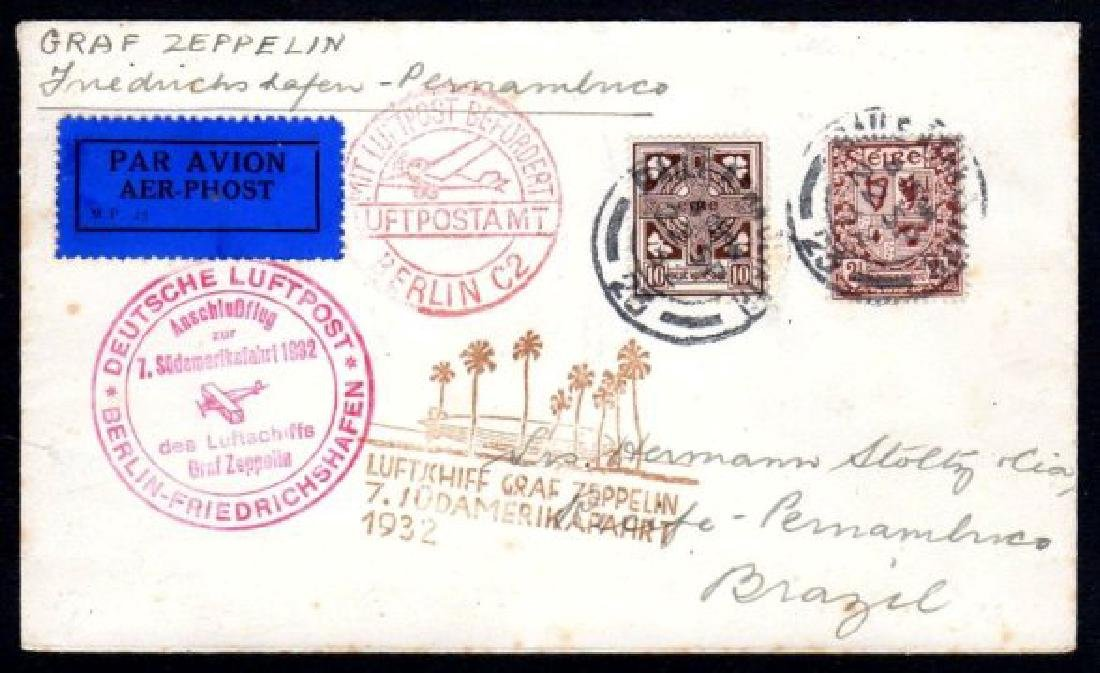 Airmail: 1932 Graf Zeppelin 7th South America flight