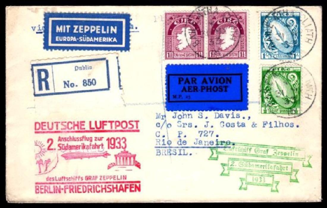 Airmail: 1933  Graf Zeppelin 2nd South America flight