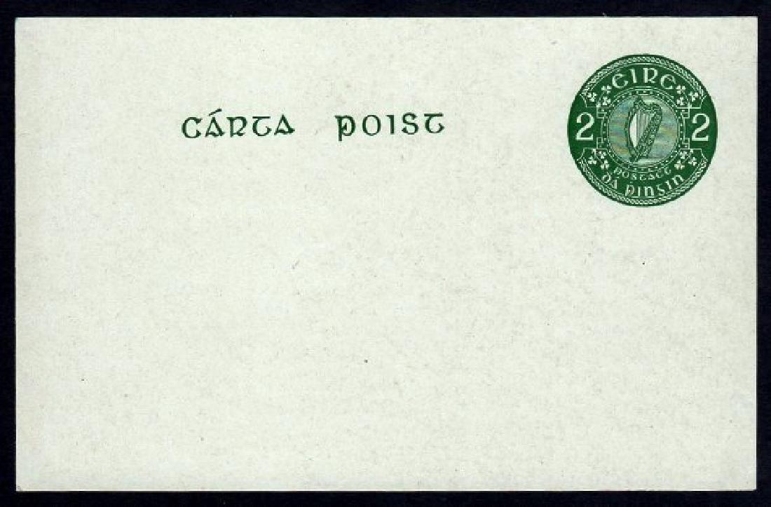 Postcard: 1951 2d green on greyish board
