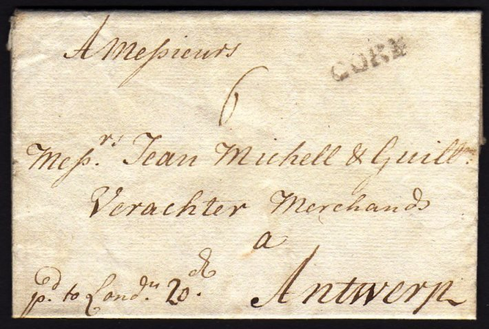 1714 Entire Letter from Cork