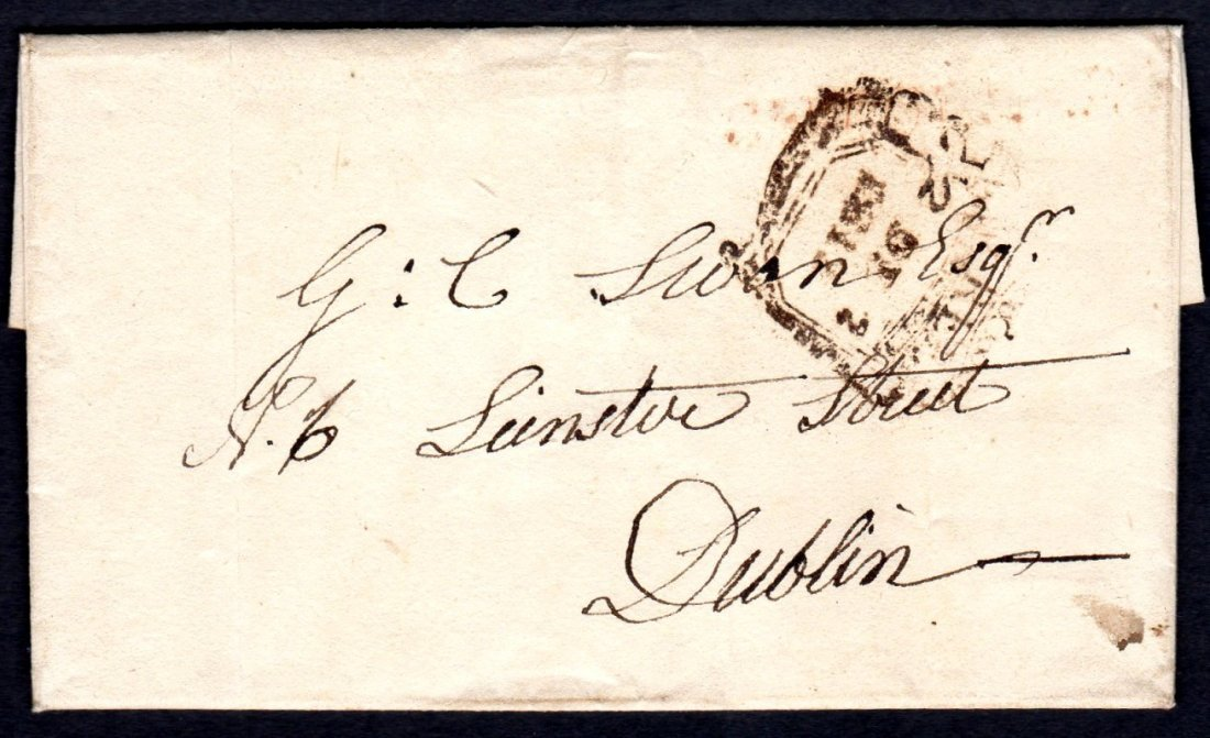 1812 Entire Letter with Mermaid