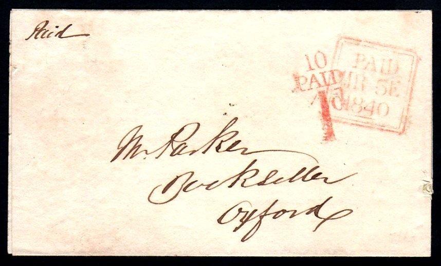 1840 Entire Letter Dublin PAID