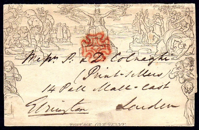1840 Mulready 1d wrapper