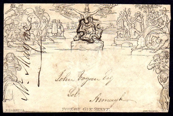1840 Mulready 1d envelope