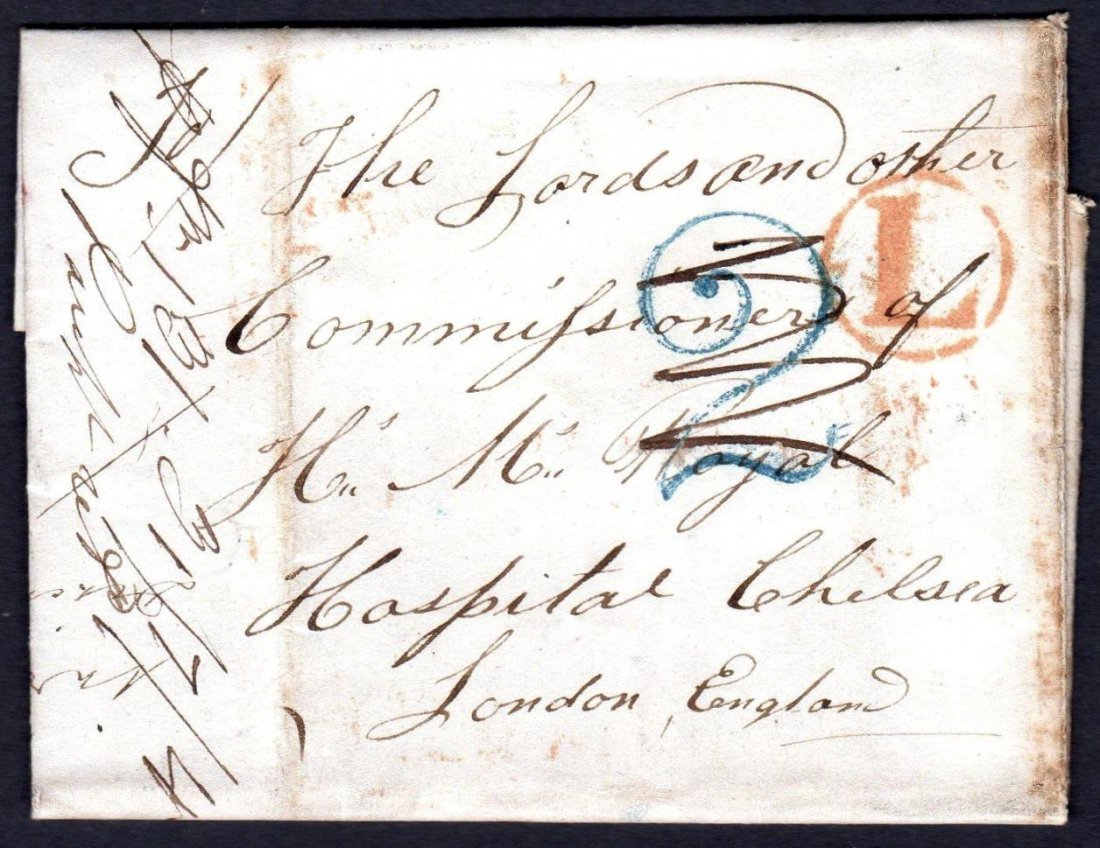 1845 Entire Letter with handstruck 2
