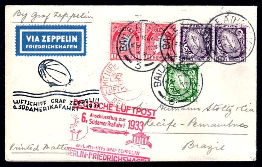 Zeppelin 1933 Sieger cover 6th SAF