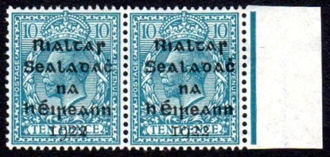 """Dollard: 10d pair, one with """"flat-tailed"""" 9"""