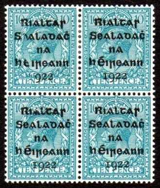 Dollard: 10d block of four with varieties