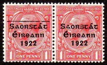 Saorstát: 1d pair, one with line over Saorstát