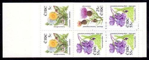 Booklet: 2009 €2 Wild Flowers error re-print