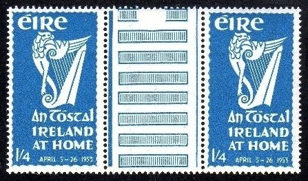 Commemorative: 1953 An Tostal gutter pairs - 2