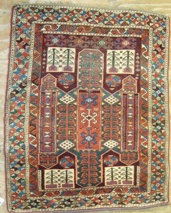 12:  Old Sewan Kazak  4.7 x 3.9