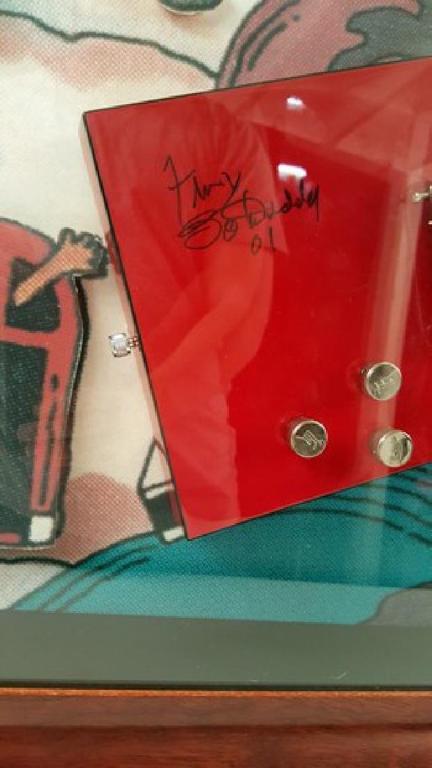 Bo Diddley Signed Guitar Framed - 2