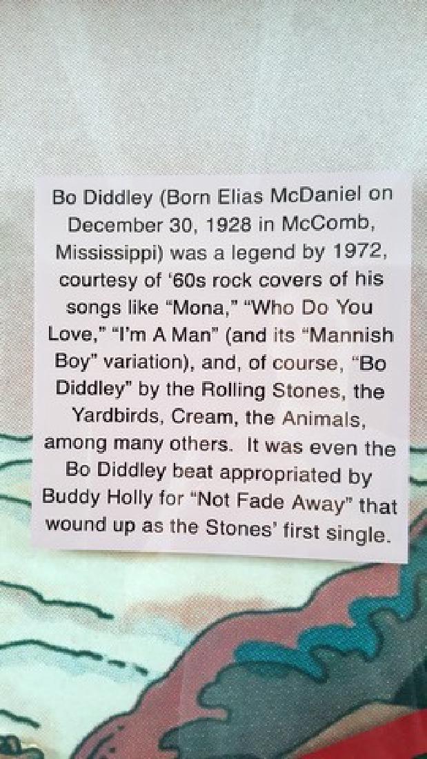Bo Diddley Signed Guitar Framed - 3