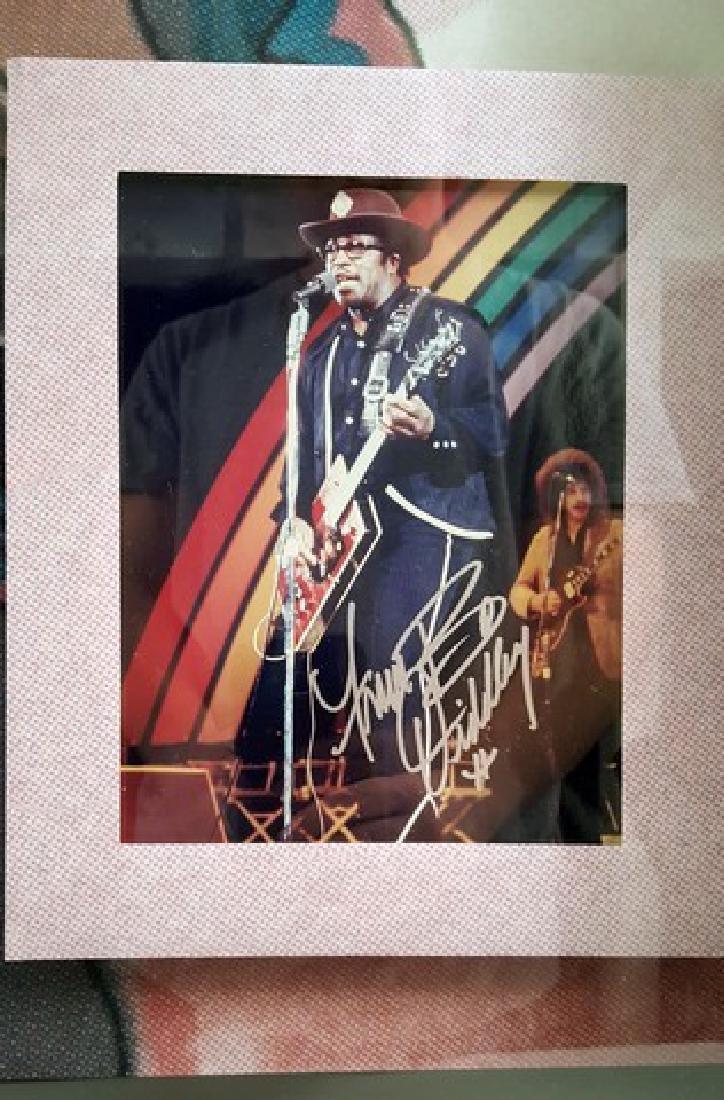 Bo Diddley Signed Guitar Framed - 4