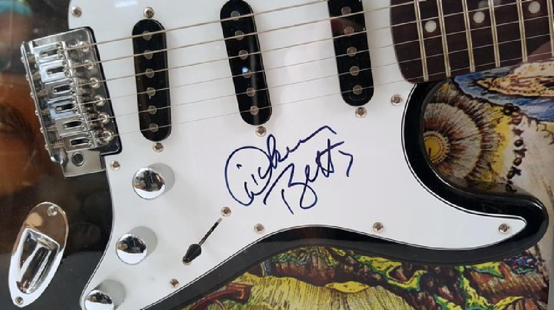 Dickey Betts Allman Brothers Band Signed Guitar Framed - 3