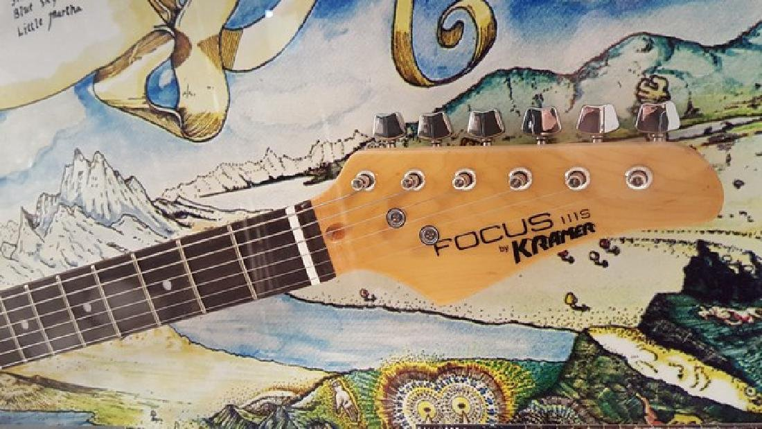 Dickey Betts Allman Brothers Band Signed Guitar Framed - 4
