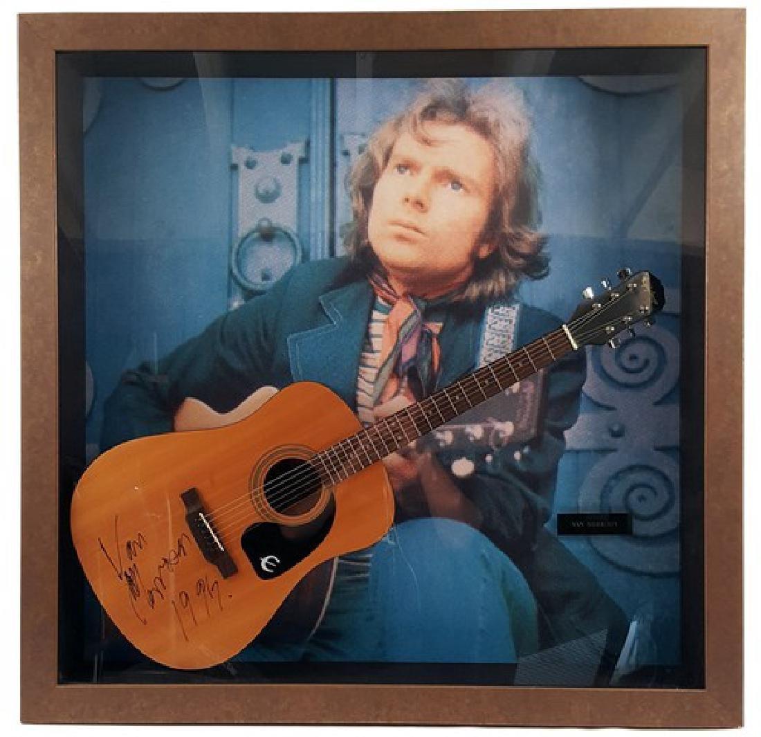 Van Morrison Signed Guitar Framed
