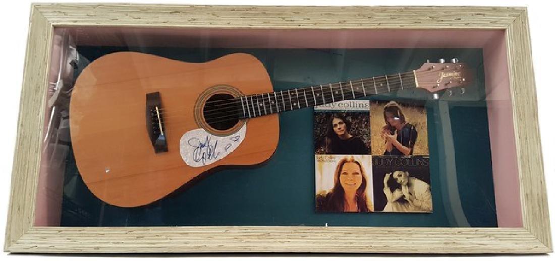 Judy Collins Signed Guitar Framed