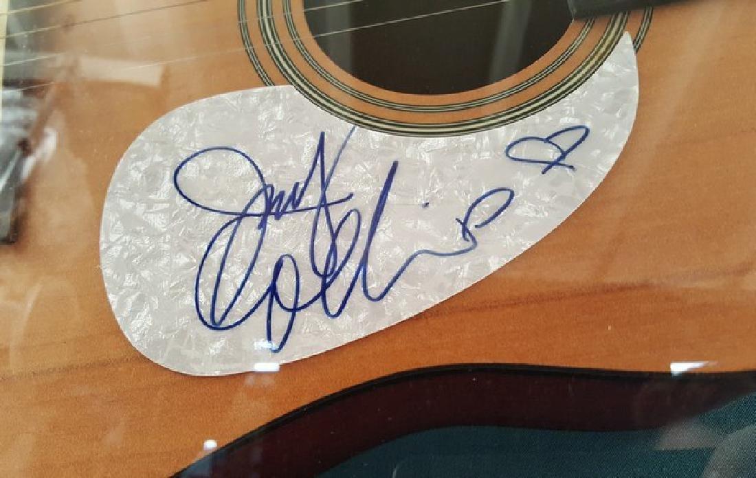 Judy Collins Signed Guitar Framed - 2