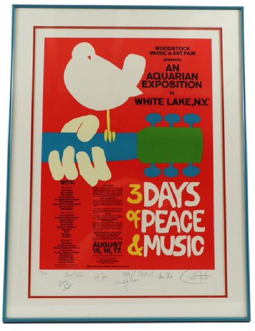 1969 Woodstock Original Poster Autographed