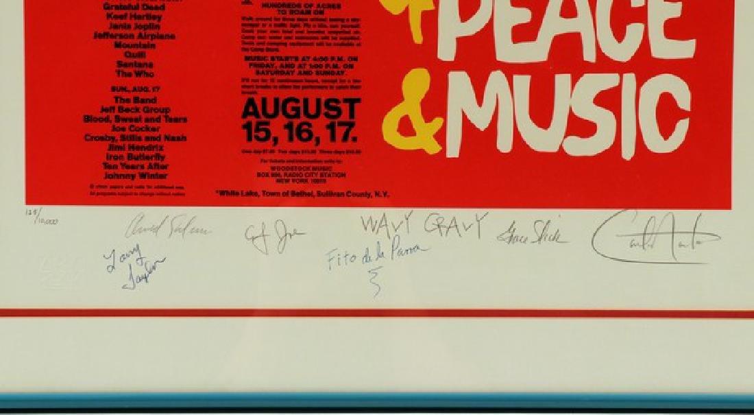 1969 Woodstock Original Poster Autographed - 2