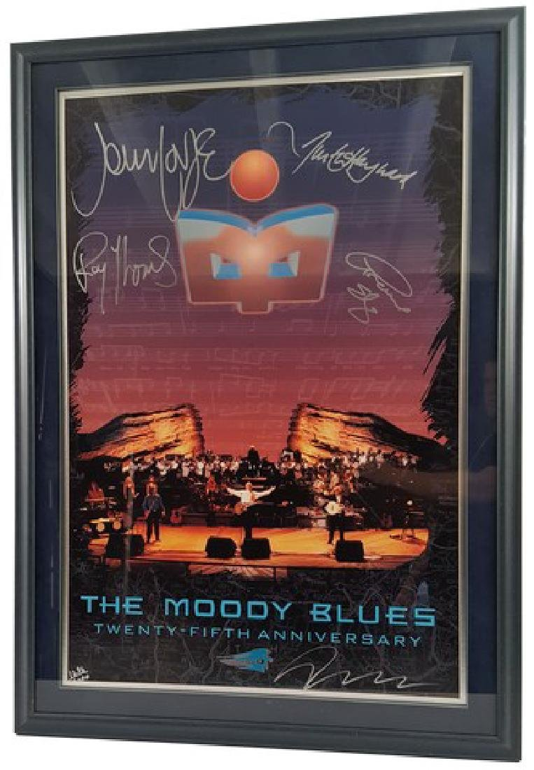 The Moody Blues Signed 25th Anniversary Poster Framed
